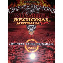 Kyпить CRUSTY DEMONS REGIONAL AUSTRALIA TOUR 2008SOUVENIR PROGRAM.ROCKSTAR UNLEASH HELL на еВаy.соm
