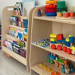 Kyпить montessori toy shelf, childrens storage, modern toy shelf, plywood shelf на еВаy.соm