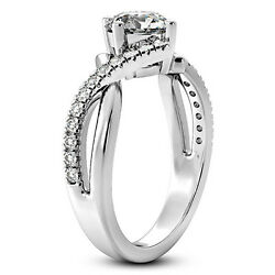 Kyпить Solitaire Pave .95 Carat Round Cut Diamond Engagement Ring White Gold Enhanced на еВаy.соm