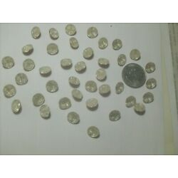 40 SMALL MOON FACE GLASS  BUTTONS----1930,s------VINTAGE