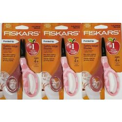 Kyпить Fiskars Scissors for Kids Pointed Tip 5 Inch Safety Pink Glitter Lot of 3 New на еВаy.соm