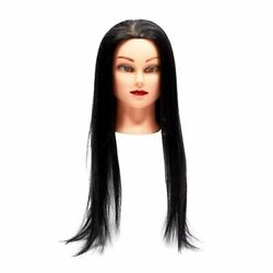 Cosmetology Mannequin Head with Black Synthetic Hair (26-28 In)