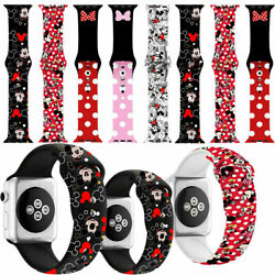 Mickey Mouse Silicone Minnie  Band Strap For Watch Apple Series 6 5 4 3 2 1 se