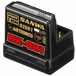 Airtronics Sanwa 4-channel RX481 Receiver w/ built-in Antenna RX-481 New