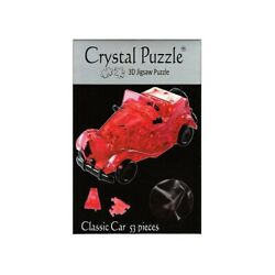 3D Crystal Brain Teaser Puzzle - Red Classic Car