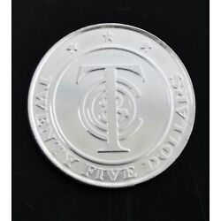 Tiffany & Co Sterling Silver 3/4 oz Redeemable $25 Money Token Coin