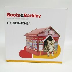 Boots & Barkley Multicolor Loving Your Cat From Head To Tail Cat Scratcher House