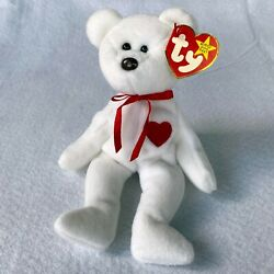 Kyпить Ty Beanie Baby Bear Valentino Brown Nose, 1994 hang tag, 1993 tag with poem New на еВаy.соm