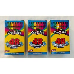 Cra-Z-Art Crayons Washable Non-Toxic 3-Packs of 48 NEW