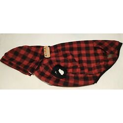 PAWZ Road Dog Coat Removable Hood Red Plaid Lined Winter Jacket XXL