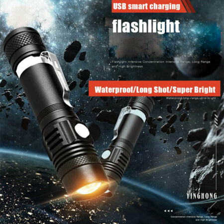img-Bright Tactical Military Rechargeable LED Waterproof Flashlight flash lightB XG