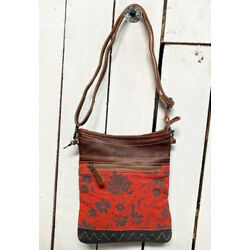 Myra Bags Womens Upcycled Bloom and Crossbody Shoulder Bag