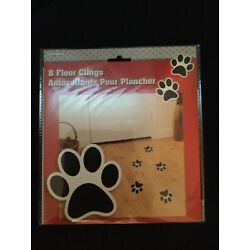 Unique Puppy Dog Paw Print Removable And Reusable Floor Clings NEW