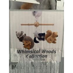 Lambs & Ivy Little Woodland Forest Animals Musical Mobile Pink/White NEW Sealed