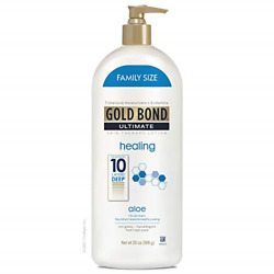 Gold Bond Ultimate Healing Skin Therapy Lotion with Aloe, Family Size, Gold 20