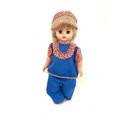 """Needs Vintage 1968 18"""" Original Clothes Closing Green Eyes 1869dw Doll Toy"""