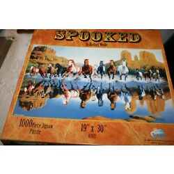 Sunsout Puzzle 1000 Piece Spooked by Bassel Wolfe 19 x 30 NIB