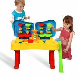 Honeyjoy Kids 2 in 1 Sand and Water Table Activity Play Table w/ Accessories
