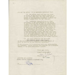 RUDY VALLEE - CONTRACT SIGNED 04/12/1946