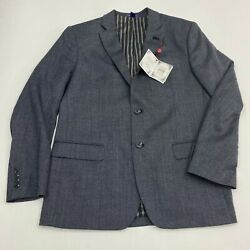 New Saville Row Co Sport Coat Men's Size 40R Long Sleeve Gray Two Button Front