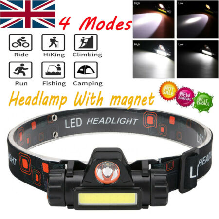 img-4 Modes Headlights LED Head Torch Light Hands Free Outdoor Headlamp AG