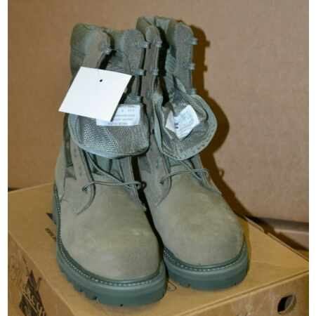 img-Genuine US Army Thorogood Sage Hot Weather Safety Combat Boots