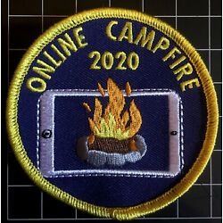 Online Campfire 2020 Badge Patch Lockdown Guides Scouts Sew On Camp Blanket