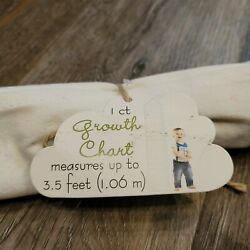 Blue Horizon Group USA Fabric Growth Chart For Children - NEW 3.5 ft