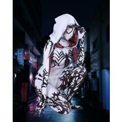 Adult Woman White Venom Costume Gwen Stacy Spider-man Cosplay EXPRESS SHIP AVAIL