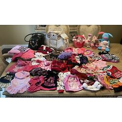 LOT DOG CLOTHES XS-SMALL,JUICY COUTURE  LEATHER CARRIER ALL EXCELLENT