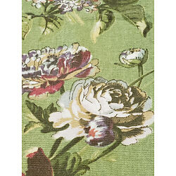 Waverly Home Classics Valance Green Floral Red 96 X 16 in Approx