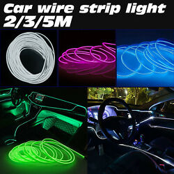 Colorful Car Interior Atmosphere Wire Strip Light Cold LED Decor Lamp Car Light