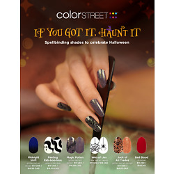COLOR STREET Nail Strips Halloween Collection 2021 Free Tracked Shipping on 4+