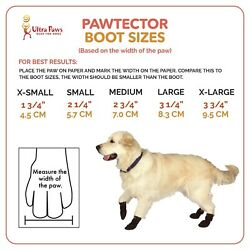 Paw Tectors Dog Boots Fleece Lined LARGE Frigid Temps Snow protector Red