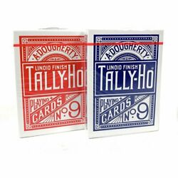 Us Playing Cards 1006704 Tally-Ho Poker Playing Cards Circle Back Design Red And