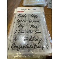 Wedding Decorations Vinyl Stickers 12 Sheets per pack, Personalized (F3)