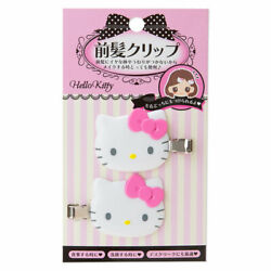 Hello kitty Pink Hair Clip for Bangs Accessory 2 Pieces Set New from Japan