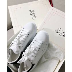 Alexander McQueen Black Tail White Casual Men's Shoes