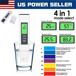 4in1 TDS PPM Meter Digital Tester Home Drinking Water Quality Purity Test Tester