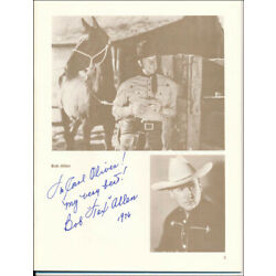 BOB (ROBERT) ALLEN - INSCRIBED PROGRAM SIGNED CIRCA 1976 WITH CO-SIGNERS