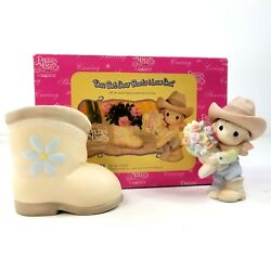 Precious Moments You Bet Your Boots I Love You Cowboy Cowgirl #120121 Gift Set