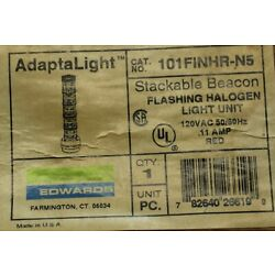 EDWARDS ADAPTALIGHT 101FINHR-N5 STACKABLE BEACON RED FLASHING HALOGEN NO BULB