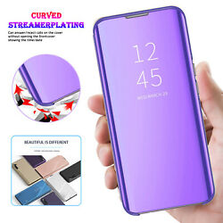 Clear-View Mirror Case For iPhone 13 Pro Max 12 11 XR XS 8 7 SE Flip Stand Cover