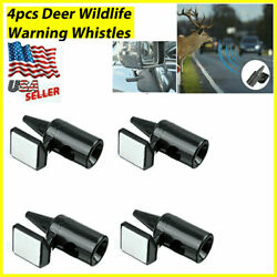 4 Deer Whistles Wildlife Warning Device Animal Sonic Alert Car Safety Accessory