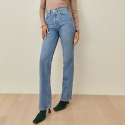 Reformation Cynthia High Rise Straight Long Jeans Colorado Sustainable SZ 30 NWT