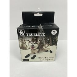 Truelove Dog Shoes Waterproof All Weather Reflective 4pc - Size 1 New