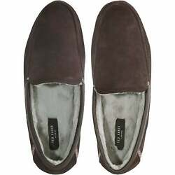 Ted Baker Valant Suede Moccasin Men's Slippers, Brown
