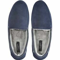 Ted Baker Valant Suede Moccasin Men's Slippers, Navy
