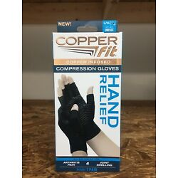 NIB Copper Fit Copper Infused Compression Gloves 1 Pair of L/XL Gloves Unisex