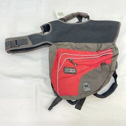 Outward Hound Red Backpack Carry-All Bag Fanny Pack for Medium-Large Dogs